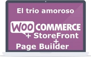 woocommerce + storefront + page bulider